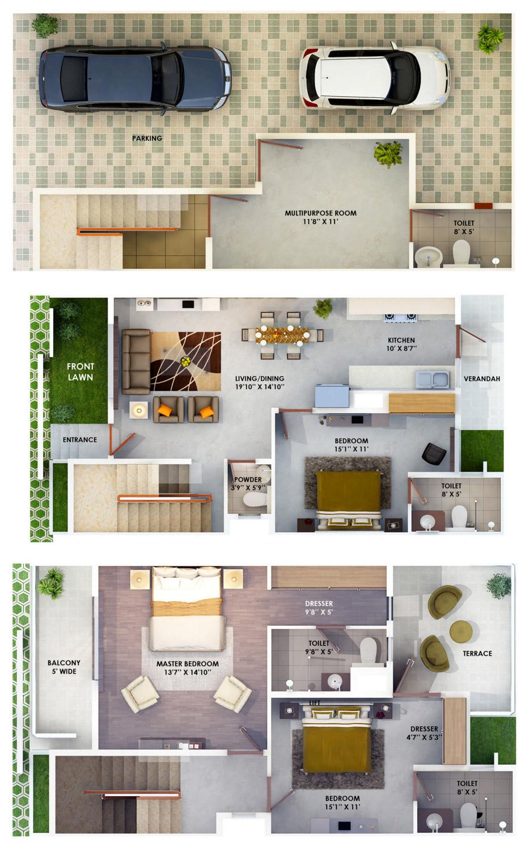The hemisphere villas floor plan site plan location map for Floor plan website